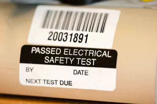 Sticker on an electrical appliance stating that it has passed a safety test