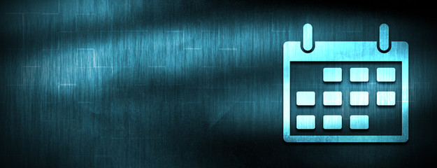 Calendar icon abstract blue banner background
