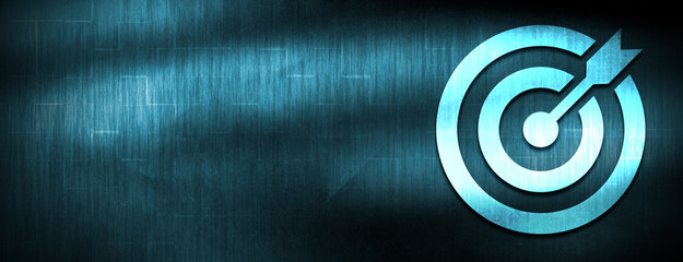Target arrow icon abstract blue banner background