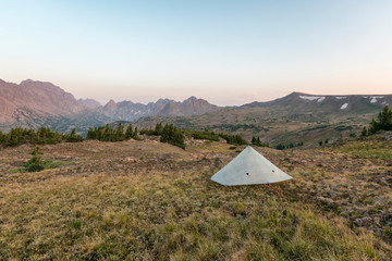 Camping in the Eagles Nest Wilderness, Colorado
