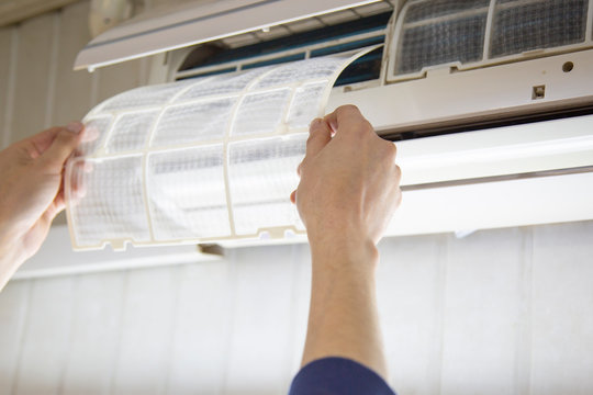 Repair and maintenance of air conditioners in the room.