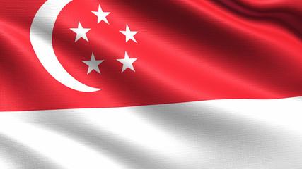 Singapore Flag Fototapete