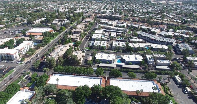 Scottsdale, Arizona, USA - Landscape Aerial shot of a nice Neighborhood on a Sunny Day