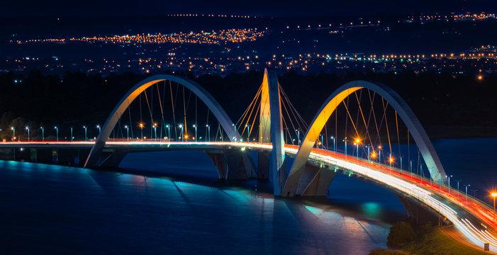 JK Bridge and the Paranoa Lake, Brasilia Brazil