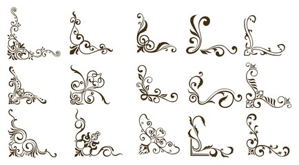 Decorative of Calligraphy swirls swashes ornate motifs and scrolls Vector illustration