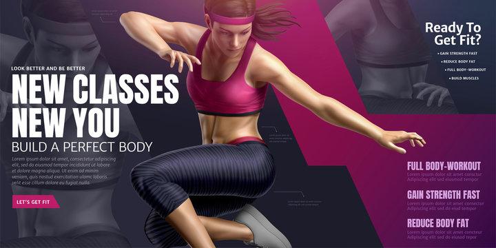 Body building class banner