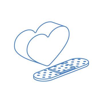 cure bandages isolated icon
