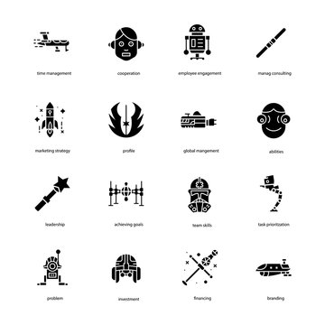 Star War Filled Icons Pack