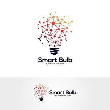 tech lightbulb logo designs concept, creative icon symbol technology logo, bulb logo designs