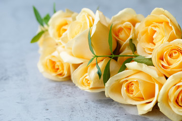 beautiful orange roses for congratulations and gift