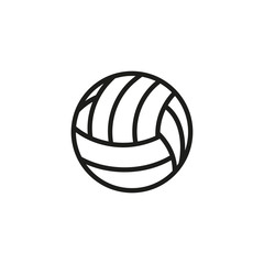 Volleyball line icon. Ball, sphere, beach. Sport concept. Vector illustration can be used for topics like game, play, match, outdoor activity