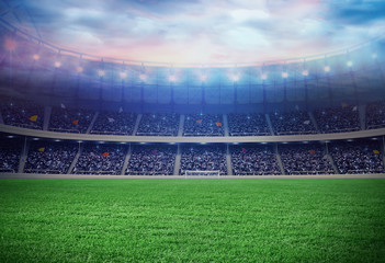 Football field isolation background