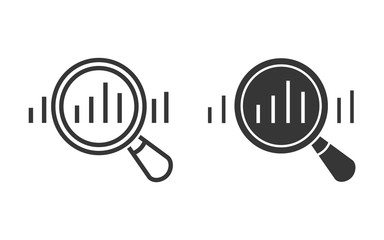 Data analysis vector icon for graphic and web design.