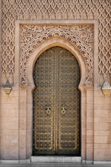 Arabic oriental styled door in Morocco