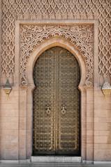 Arabic oriental styled door in Morocco