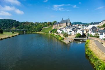 Saarburg an der Saar Blick Richtung Wasserfall