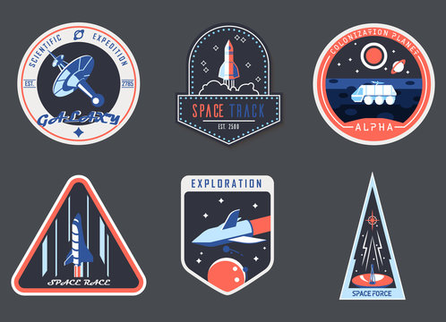 Astronaut chevron or spaceman suit patch,cosmonaut