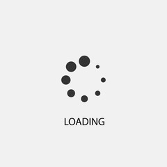 Loading vector icon illustration sign