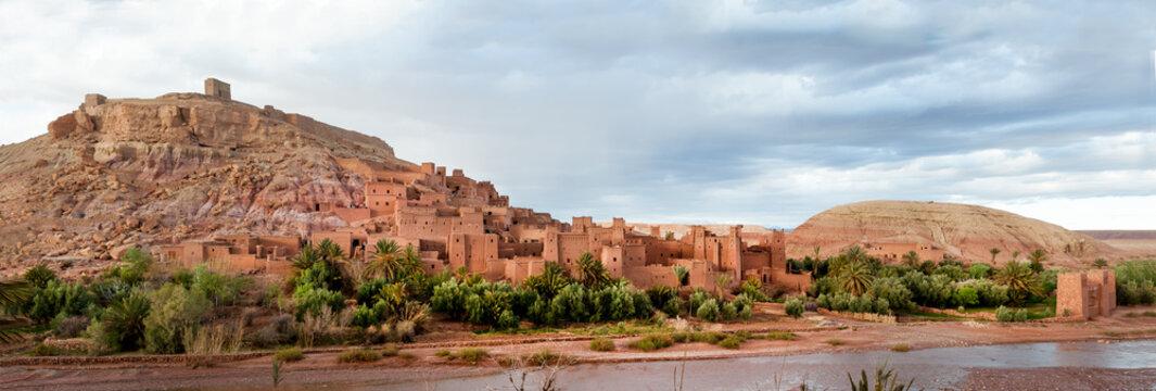 Kasbah Ait Ben Haddou near Ouarzazate in Morocco. UNESCO World Heritage Site since 1987.