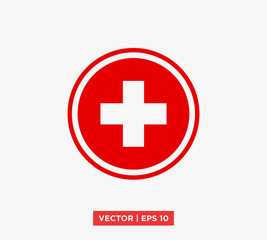 Cross Icon Vector Illustration