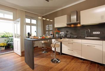 Küche modern zuhause Kochen Essen