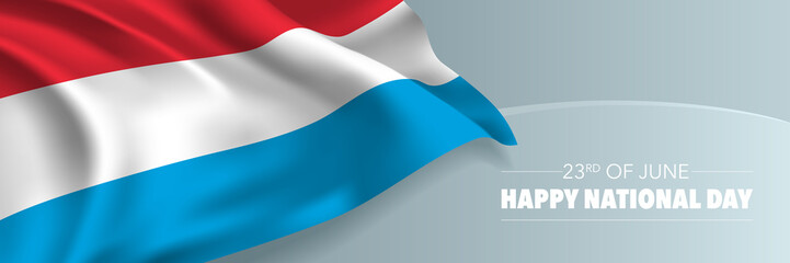 Luxembourg happy national day vector banner, greeting card.