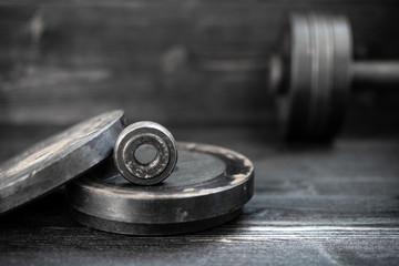 Closeup image of a fitness equipment. Sports, workout.