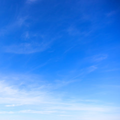 Perfect blue sky ideal advertising background