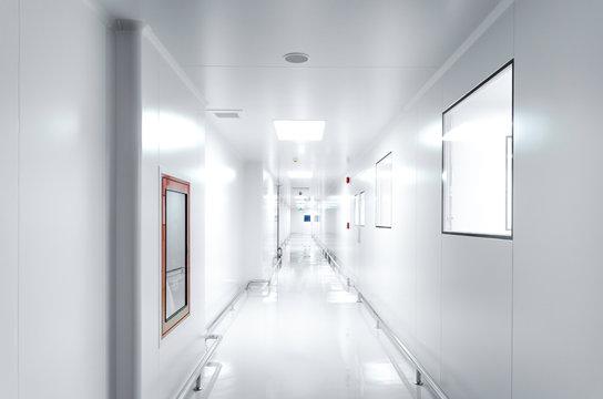 Corridors For Clean room pharmaceutical plant , Epoxy flooring , Sandwich Panel