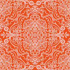 Vector Image. Ornament pattern.Can be used for designer wallpapers, for textile,  packaging, printing or any desired idea. Different elements of paisley.