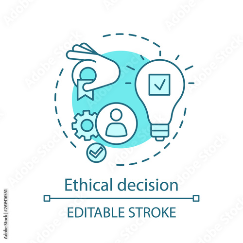 Ethical decision concept icon