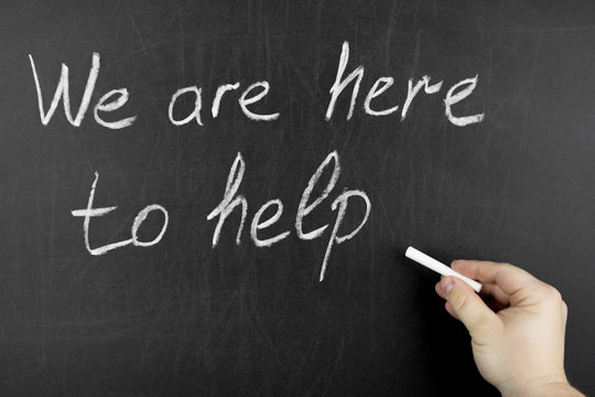 Hand writing We are here to help on blackboard