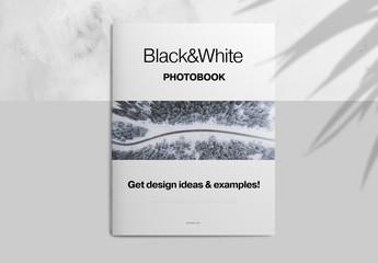 Minimalist Grayscale Photobook Layout