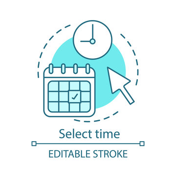 Select time concept icon