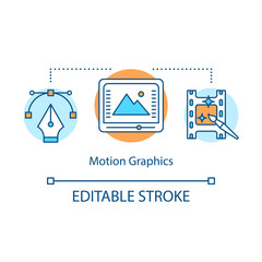 Motion graphics concept icon