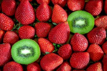 Strawberry and kiwi. Fresh fruits