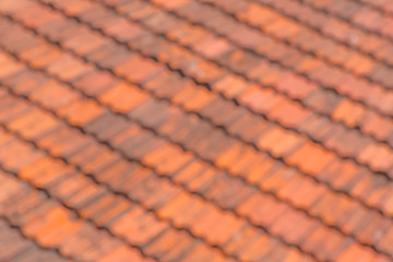 Purposely defocused image of roof tiles as background