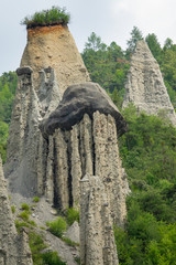 AERIAL: Beautiful limestone towers created by centuries of erosion in France.