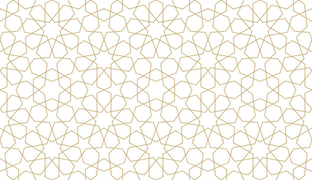 Seamless pattern in authentic arabian illustration style