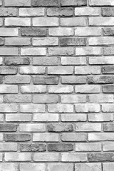 Gray brick wall as a background or texture