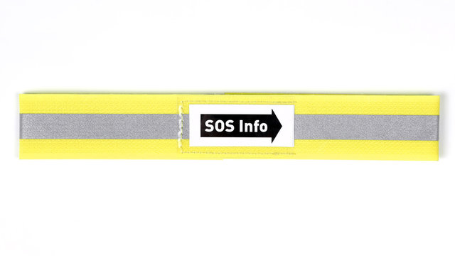 reflective strip on white background.. signs and directions.