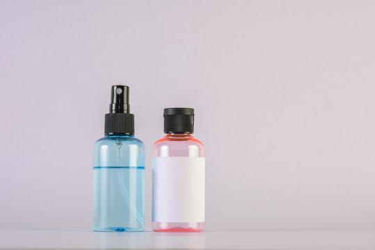 Empty bottle cream moisturizer lotion