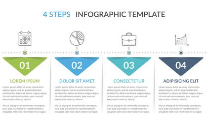 Fototapeta Infographic Template with 4 Steps obraz