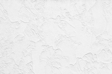 Fototapeta The pattern of painted plaster walls is white texture and background obraz