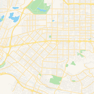 Empty vector map of West Covina, California, USA