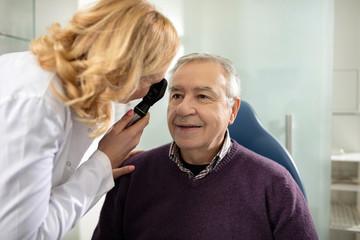 Man on eyesight control