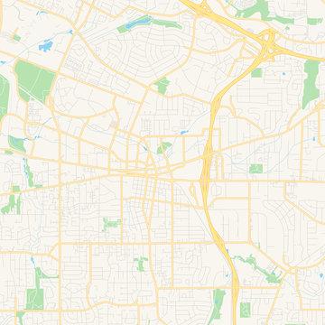 Empty vector map of Beaverton, Oregon, USA