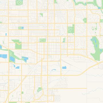 Empty vector map of Longmont, Colorado, USA