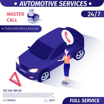 Ad for Round-the-Clock Client Support Car Service