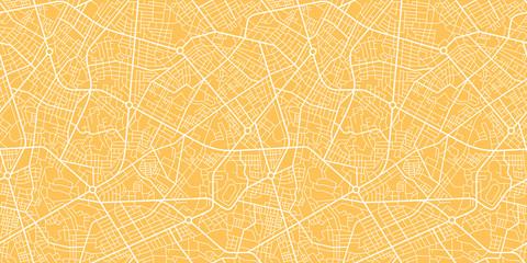 Seamless map city plan. Fototapete